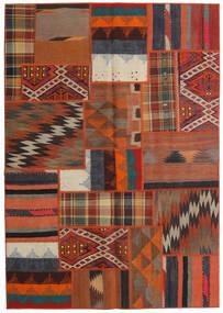 Tekkeh Kilim Rug 141X200 Authentic Modern Handwoven Dark Brown/Orange (Wool, Persia/Iran)