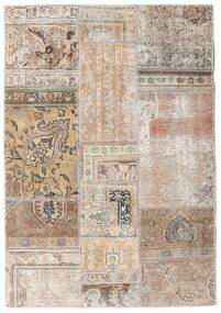 Patchwork - Persien/Iran Rug 108X156 Authentic Modern Handknotted Light Grey/White/Creme (Wool, Persia/Iran)