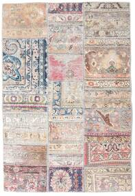Patchwork - Persien/Iran Rug 108X159 Authentic Modern Handknotted Light Grey/Light Pink/White/Creme (Wool, Persia/Iran)