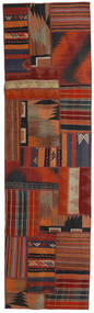 Tekkeh Kilim Rug 70X251 Authentic Modern Handwoven Hallway Runner Dark Red/Dark Blue (Wool, Persia/Iran)