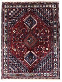 Yalameh Rug 150X200 Authentic  Oriental Handknotted Dark Purple/Dark Red (Wool, Persia/Iran)