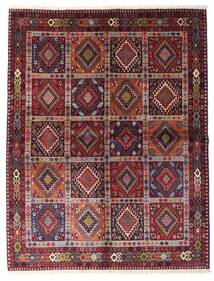 Yalameh Rug 151X195 Authentic  Oriental Handknotted Dark Red/Light Purple (Wool, Persia/Iran)