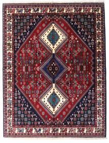 Yalameh Rug 151X199 Authentic  Oriental Handknotted Dark Red/Black (Wool, Persia/Iran)
