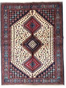 Yalameh Rug 150X199 Authentic  Oriental Handknotted Dark Purple/Dark Blue (Wool, Persia/Iran)