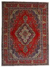 Tabriz Rug 300X408 Authentic  Oriental Handknotted Dark Red/Dark Grey Large (Wool, Persia/Iran)