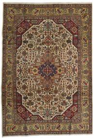 Tabriz Rug 210X300 Authentic  Oriental Handknotted Dark Red/Dark Grey (Wool, Persia/Iran)
