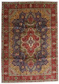 Tabriz Rug 223X314 Authentic  Oriental Handknotted Black/Dark Red (Wool, Persia/Iran)