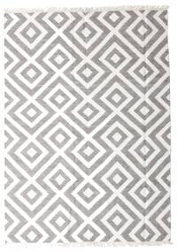 Bamboo Silk Kilim Rug 170X240 Authentic  Modern Handwoven Light Grey/White/Creme (Wool/Bamboo Silk, India)