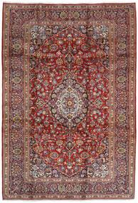 Keshan Rug 207X304 Authentic  Oriental Handknotted Dark Red/Dark Brown (Wool, Persia/Iran)
