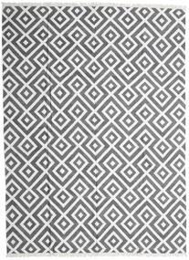 Bamboo Silk Kilim Rug 300X400 Authentic  Modern Handwoven Light Grey/Dark Grey/White/Creme Large (Wool/Bamboo Silk, India)
