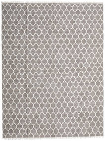 Bamboo Silk Kilim Rug 300X400 Authentic  Modern Handwoven Light Grey Large (Wool/Bamboo Silk, India)