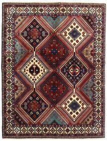 Yalameh Rug 152X198 Authentic  Oriental Handknotted Dark Red/Dark Brown (Wool, Persia/Iran)
