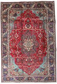Tabriz Rug 204X298 Authentic  Oriental Handknotted Dark Brown/Dark Red (Wool, Persia/Iran)