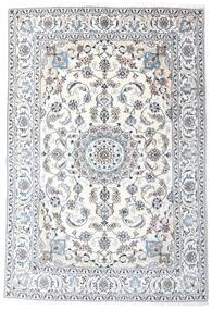 Nain Rug 196X287 Authentic  Oriental Handknotted White/Creme/Light Grey (Wool, Persia/Iran)