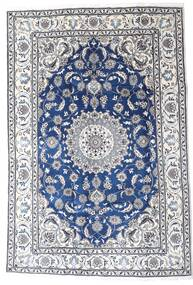 Nain Rug 195X290 Authentic  Oriental Handknotted Light Grey/White/Creme (Wool, Persia/Iran)