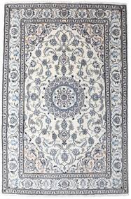 Nain Rug 194X295 Authentic  Oriental Handknotted White/Creme/Dark Grey (Wool, Persia/Iran)