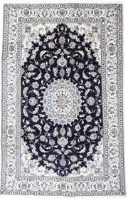 Nain Rug 193X302 Authentic  Oriental Handknotted Light Grey/Dark Purple (Wool, Persia/Iran)