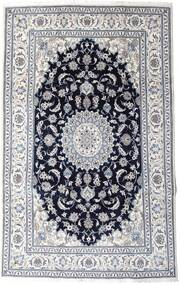 Nain Rug 197X313 Authentic  Oriental Handknotted Light Grey/Black (Wool, Persia/Iran)