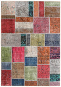 Patchwork - Persien/Iran Rug 163X234 Authentic  Modern Handknotted Light Grey/Rust Red (Wool, Persia/Iran)