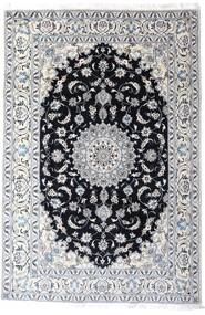 Nain Rug 200X297 Authentic  Oriental Handknotted White/Creme/Light Grey (Wool, Persia/Iran)
