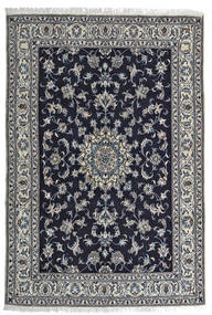 Nain Rug 164X242 Authentic  Oriental Handknotted Black/Light Grey (Wool, Persia/Iran)