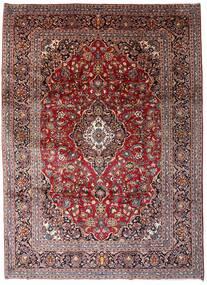 Keshan Rug 246X338 Authentic  Oriental Handknotted Dark Brown/Dark Red (Wool, Persia/Iran)