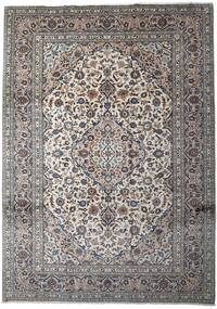 Keshan Rug 252X350 Authentic  Oriental Handknotted Light Grey/Dark Grey Large (Wool, Persia/Iran)