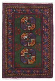 Afghan Rug 83X121 Authentic  Oriental Handknotted Black/Dark Brown (Wool, Afghanistan)
