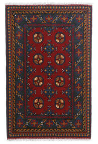 Afghan Rug 80X123 Authentic  Oriental Handknotted Dark Red/Dark Blue (Wool, Afghanistan)