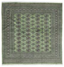 Pakistan Bokhara 2Ply Rug 200X203 Authentic  Oriental Handknotted Square Dark Grey/Light Grey (Wool, Pakistan)