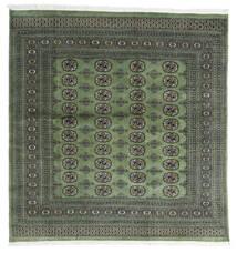 Pakistan Bokhara 2Ply Rug 199X207 Authentic  Oriental Handknotted Square Dark Grey/Dark Green (Wool, Pakistan)