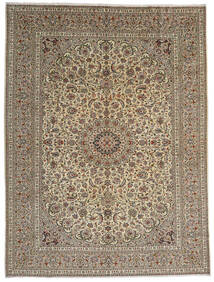 Keshan Rug 292X389 Authentic  Oriental Handknotted Light Grey/Light Brown Large (Wool, Persia/Iran)