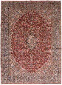 Kerman Rug 270X370 Authentic  Oriental Handknotted Dark Grey/Dark Red Large (Wool, Persia/Iran)