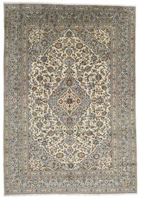 Keshan Rug 247X348 Authentic  Oriental Handknotted Dark Grey/Light Grey (Wool, Persia/Iran)