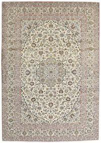 Keshan Rug 250X360 Authentic  Oriental Handknotted Light Grey/Beige Large (Wool, Persia/Iran)