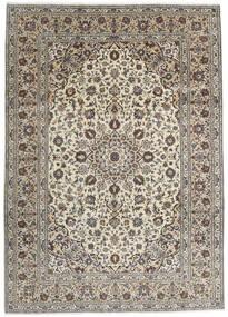Keshan Rug 250X348 Authentic  Oriental Handknotted Light Grey/Dark Grey Large (Wool, Persia/Iran)