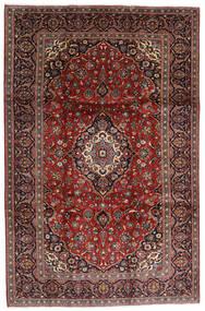 Keshan Rug 238X364 Authentic  Oriental Handknotted Dark Red/Black (Wool, Persia/Iran)
