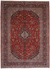 Keshan Rug 297X409 Authentic  Oriental Handknotted Dark Red/Black Large (Wool, Persia/Iran)