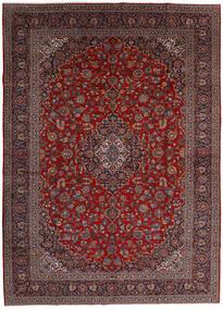 Keshan Rug 299X416 Authentic  Oriental Handknotted Dark Red/Dark Grey Large (Wool, Persia/Iran)