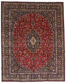 Mashad Rug 298X375 Authentic  Oriental Handknotted Dark Red/Brown Large (Wool, Persia/Iran)