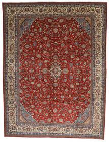 Sarouk Rug 325X425 Authentic  Oriental Handknotted Dark Brown/Dark Red Large (Wool, Persia/Iran)