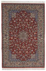 Isfahan Sherkat Farsh Rug 200X300 Authentic Oriental Handknotted Dark Red/Dark Brown (Wool/Silk, Persia/Iran)