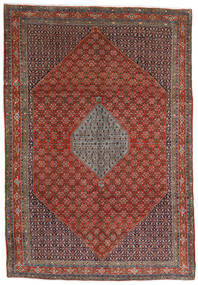 Bidjar Rug 221X320 Authentic Oriental Handknotted Dark Brown/Dark Red (Wool, Persia/Iran)