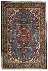 Qum Kork/Silk Rug 215X322 Authentic Oriental Handknotted Brown/Dark Grey (Wool/Silk, Persia/Iran)