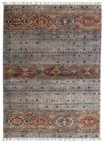 Shabargan Rug 102X146 Authentic  Modern Handknotted Light Grey/Dark Grey (Wool, Afghanistan)
