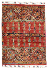 Shabargan Rug 88X125 Authentic  Modern Handknotted Dark Brown/Rust Red (Wool, Afghanistan)