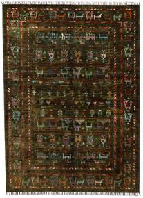 Modern Afghan Rug 154X212 Authentic  Modern Handknotted Dark Brown (Wool, Afghanistan)