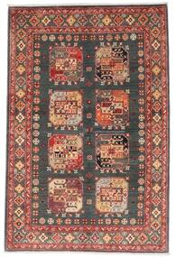 Kazak Rug 118X179 Authentic Oriental Handknotted Dark Red/Dark Grey (Wool, Afghanistan)