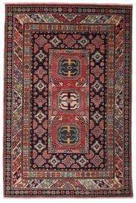 Kazak Rug 118X177 Authentic  Oriental Handknotted Dark Red/Dark Brown (Wool, Afghanistan)