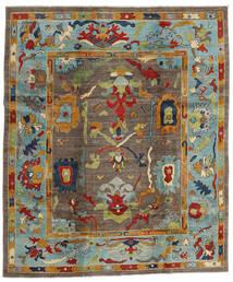 Kazak Rug 244X290 Authentic  Oriental Handknotted Brown/Light Grey (Wool, Afghanistan)